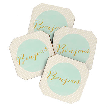 Allyson Johnson French Hello Coaster Set