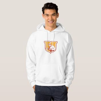 Home Insulation Technician Retro Shield Hoodie