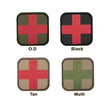 Medic Patch (6 Pack) Color- Black-Red
