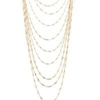 LAYERED TWISTED CHAIN NECKLACE