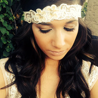 Vintage bridal hairband, 1920's Great Gatsby inspired.