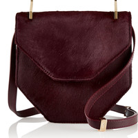 M2Malletier - Amor Fati calf hair and leather shoulder bag