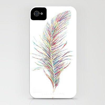 Rainbow Feather  iPhone Case by Jo Woolley | Society6