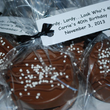 Milk Chocolate Covered Oreos with Nonpareils – 12 Custom Cookies  – Birthday / Wedding / Shower Favors
