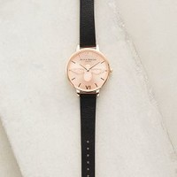 Olivia Burton Rosegold Moulded Bee Watch in Black Size: One Size Watches