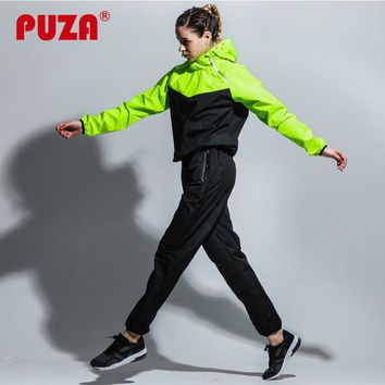 PUZA Set For Women Costume Female Pullover Sweat Suit Women Clothing Set Sweatsuit Tracksuit 2018 Loss Weight