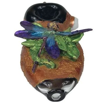 Dragonfly Glass Pipes - with Swarovski Crystal eyes