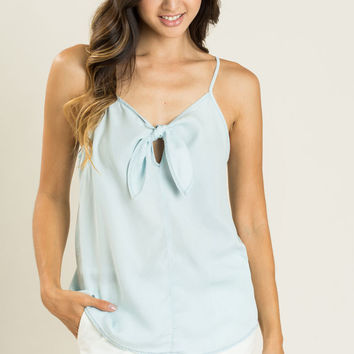 Beth Chambray Front Tie Cami