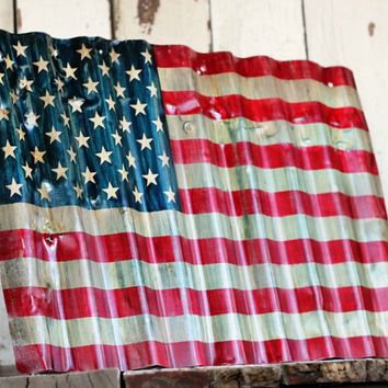 AMERICAN FLAG Reclaimed painted and by MannMadeDesigns4 on Etsy