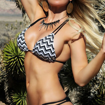 Kona-Kini Top w/ Braided Straps - Shadow Peak