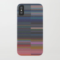 scanner stripes iPhone Case by duckyb
