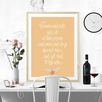 Typography wall art,  Robert A. Heinlein inspirational funny quote, typography poster giclée print