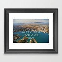AND IN THAT MOMENT, I SWEAR WE WERE INFINITE ∞ Framed Art Print by Guido Montañés