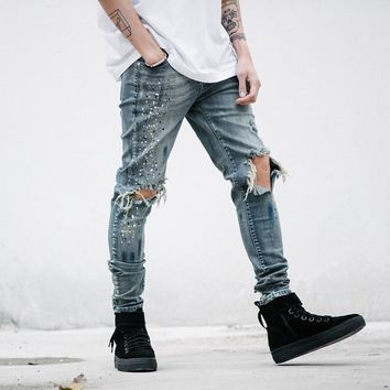 Thrasher-ink Ripped Skinny Jeans
