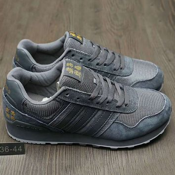 Adidas Women Men Fashion Casual  Running Sport Casual Shoes Sneakers Grey G-A0-HXYDXPF