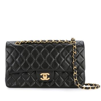CHANEL BLACK QUILTED 2.55 LAMBSKIN VINTAGE MEDIUM CLASSIC DOUBLE FLAP BAG GHW 01