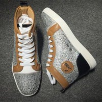 VONE7Y2 Cl Christian Louboutin Rhinestone Style #1933 Sneakers Fashion Shoes