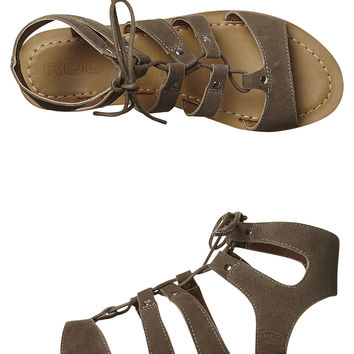 ROC BOOTS WOMENS LEATHER BEBOP SANDAL - TAUPE SUEDE