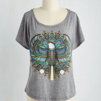 Festival Mid-length Short Sleeves Nourish Your Courage Top