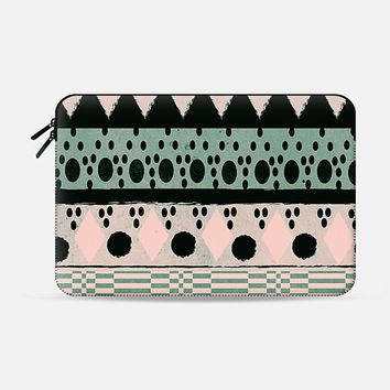 "PASTEL NORDIC TRIBAL - MACBOOK SLEEVE Macbook 12"" sleeve by Nika Martinez 