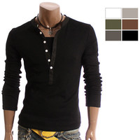 youstars Mens Casual Lined Stylish Shirts 6Colors (D15