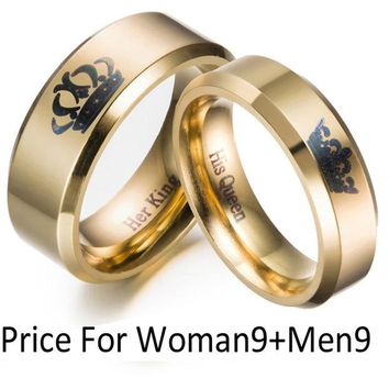 Gold King And Queen Rings
