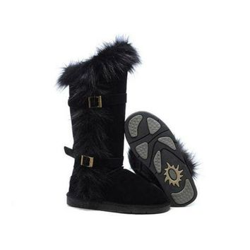 DCCKIN2 Ugg Boots Black Friday Deals Fox Fur tall 1984 Black For Women 95 95