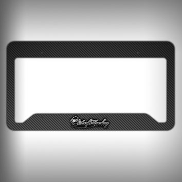 Carbon Fiber Custom Licence Plate Frame Holder Personalized Car Accessories