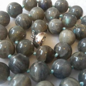 Iridescent Labradorite Gemstone Necklace