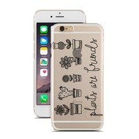 for iPhone 6 Plus - Super Slim Case - Plants Are Friends - Flowers - Cactus - Nature - Doodle - Drawing - Sketch