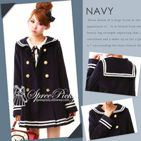 J-fashion Winter Sailor Woolen Coat free shipping SP130284