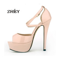 Fashion Shoes Women Pumps Party Bridal Platform Ankle Straps High Heels Peep Toe Shoes Strap Sandals US 4-11 13 Colors