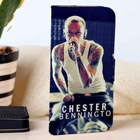 Chester Bennington | Linkin Park | Music | custom wallet case for iphone 4/4s 5 5s 5c 6 6plus 7 case and samsung galaxy s3 s4 s5 s6 case
