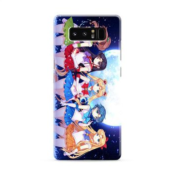 Sailor Moon (group outside) Samsung Galaxy Note 8 Case