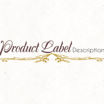 Logo design template | Product Label | Food Recipe Blog Header | instant download | digital download | psd file | DIY