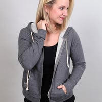 Taking It Easy Zip Up - {Charcoal}