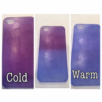 Colour changing iphone case, iphone 5 case, heat sensitive,colour changing iphone 5 case, iphone 6 case, cool phone cases, iphone case