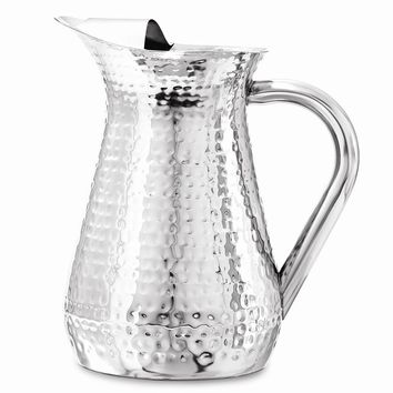 48 oz Hammered Stainless Steel Water Pitcher
