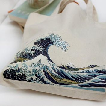 The Great Wave Printed Tote