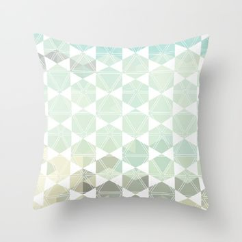 Geometric Sand & Sea Throw Pillow by All Is One