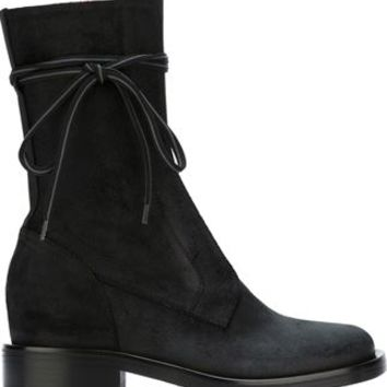 A.f.vandevorst Mid Calf Length Side Zip Boots - Coccodrillo - Farfetch.com