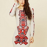 Free People  Clothing Boutique > Aztec Princess Bodycon