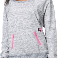 Volcom Girls Call Me Heather Crew Neck Sweatshirt
