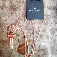 The Giving Keys Necklace - Copper