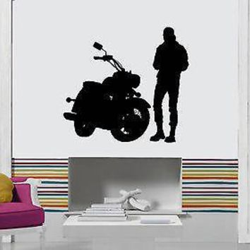 Vinyl Decal Wall Stickers Bike Biker Speed Extreme Sport Cool Decor Unique Gift (z1705)