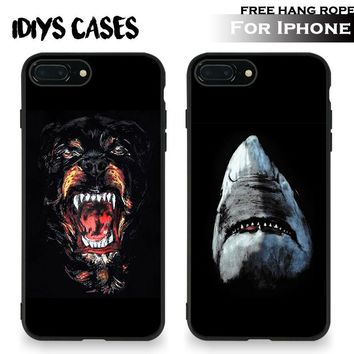 Rottweiler Shark animals Tpu Soft Silicone Phone Case Cover Shell For Apple iPhone 5 5S SE 6 6S 6Plus 6sPlus 7 7Plus 8 8Plus X