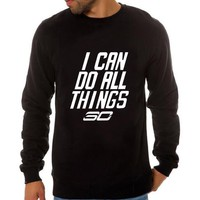 Curry sweatshirt pullovers i can do all things printing crewneck hoodies men hip hop streetwear clothing