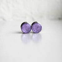 Purple Glitter Plugs, Lavender Gauges, Resin Plugs, Glitter Girl Plugs - sizes 4g, 2g, 0g, 00g, 7/16, 1/2, 9/16, 5/8, 3/4, 7/8, 1""