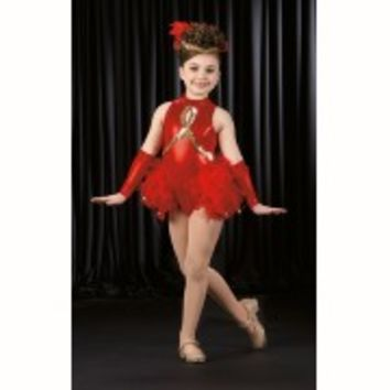 Dance Costume ROCKIN ROBIN Showgirl Jazz Tap Ice Skate Christmas Child Large New
