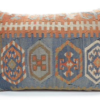 "MODERN Bohemian Home Decor,Handwoven Turkish Kilim Lumbar Pillow Cover 20"" X 14"",Decorative Kilim Pillow,Lumbar Kilim Pillow,Throw Pillow"
